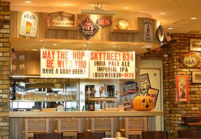世界のビール博物館のアメリカのビアカウンター