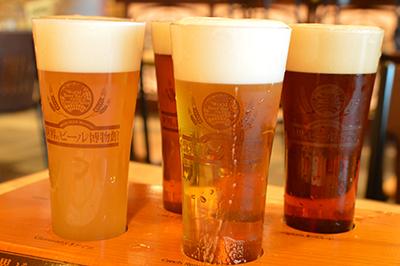 世界のビール博物館で注文した「日替わりで楽しめるミュージアムセットビール」