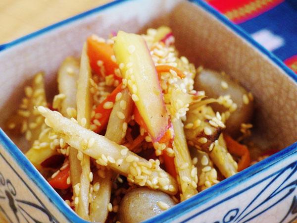 ブラウンビールに合うおつまみ「根菜のきんぴら」レシピ