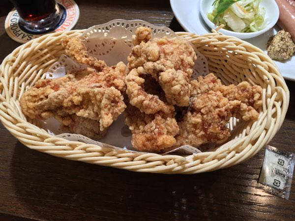 おつまみ「阿波乙女鶏の唐揚」