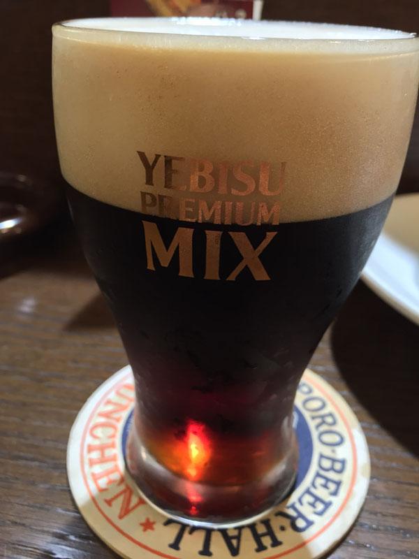 3杯目のビールは「エビス プレミアムミックス」