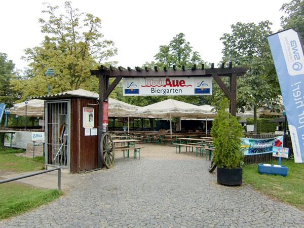 パルクレストラン「ラインアウエ」と併設のビアガーデンに行ってきた