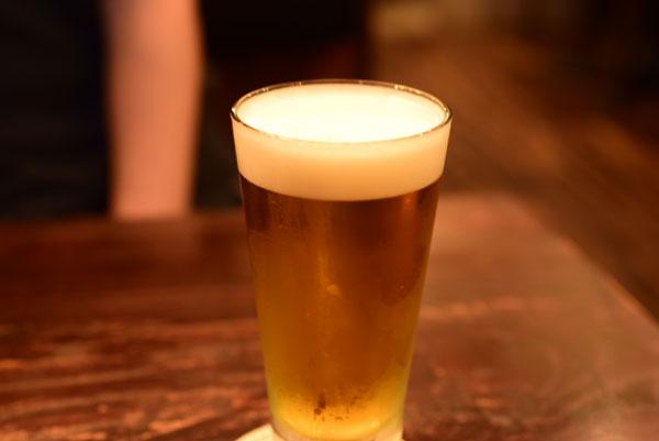 2杯目のビール「サッポロビール エーデルピルス」